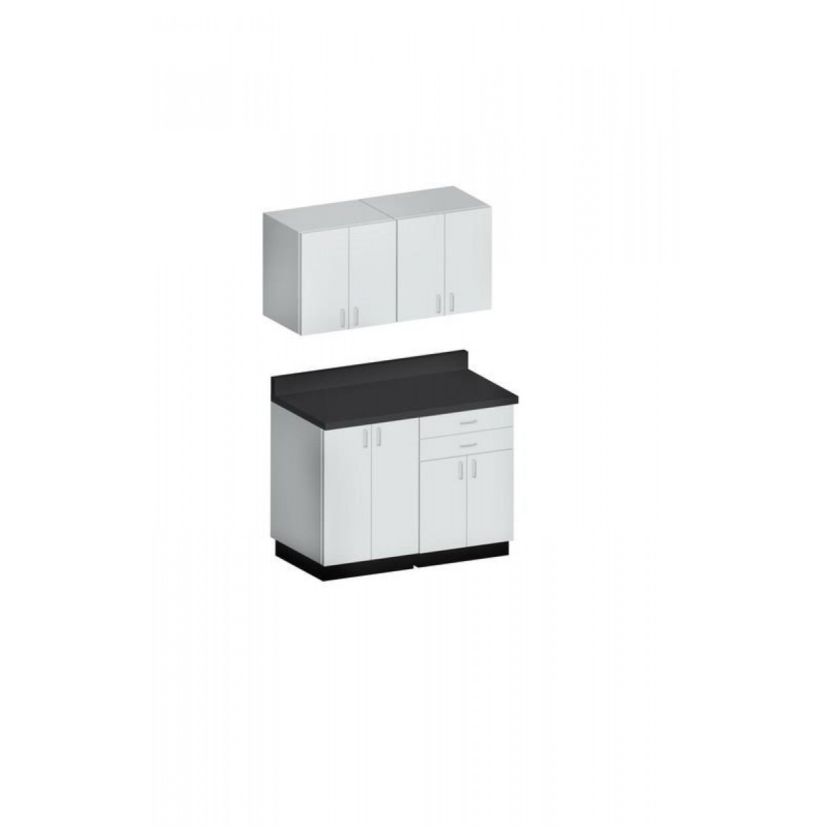 Hausmann B 403 49 Inch Base Cabinet And Wall Cabinets