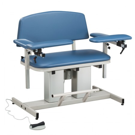 Clinton 6361 Power Bariatric Blood Drawing Chair with Padded Arms
