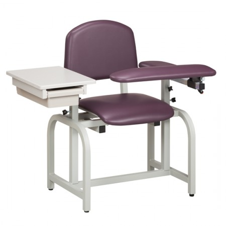 Clinton 66020 Blood Drawing Chair with Padded Flip Arm and Drawer
