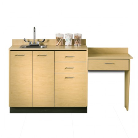 "Clinton 42"" Cabinet Maple with Desk"