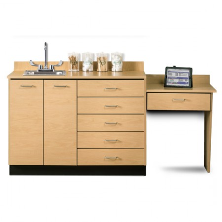 "Clinton 48"" Cabinet Maple with Desk"