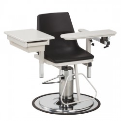 Clinton 6340-P Blood Drawing Chair with Flip Arm and Drawer