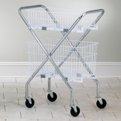 Folding Wire Basket Cart