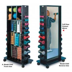 Hausmann 5560 storage and mirror rack