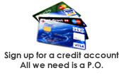 We provide secure checkout through Paypal using all major credit cards.  We also offer the option of using a purchase order for all recognized hospitals and affiliated long-term care facilities in the U.S.