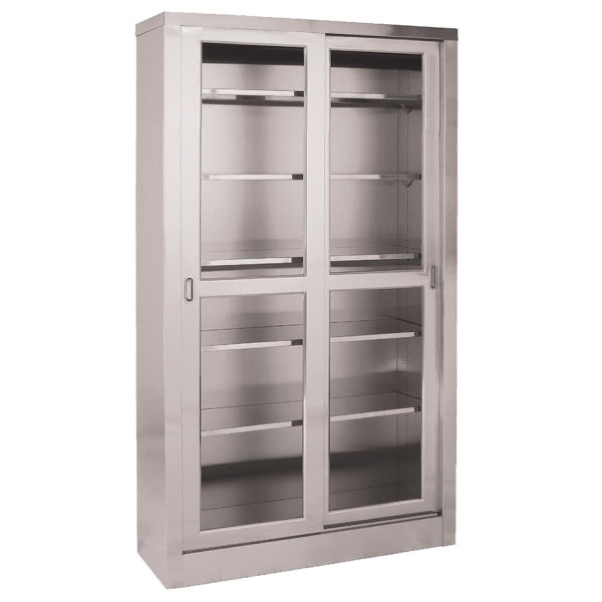 Umf Ss7816 Large Sliding Door Stainless Steel Storage Cabinet