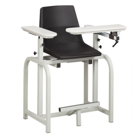 Clinton 66011-P Extra-Tall Blood Drawing Chair with Arms,