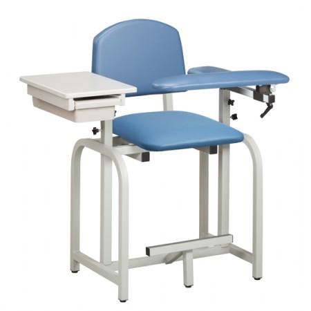 Clinton 66022 X-Tall Blood Drawing Chair w/ Padded Flip Arm & Drawer