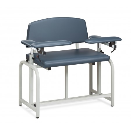 Clinton 66099B Bariatric Blood Drawing Chair with Padded Arms