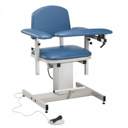 Clinton 6341 Power Blood Drawing Chair with Padded Arms