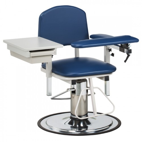Clinton 6320 Blood Drawing Chair with Padded Flip Arm and Drawer