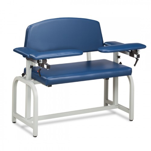 Clinton 66000 X-Wide Blood Drawing Chair with Padded Arms