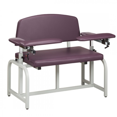 Clinton 66000B Bariatric Blood Drawing Chair with Padded Arms