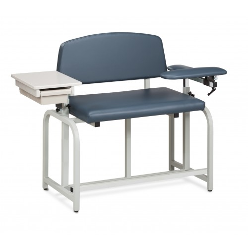 Clinton 66092B Bariatric Blood Drawing Chair with Padded Arms