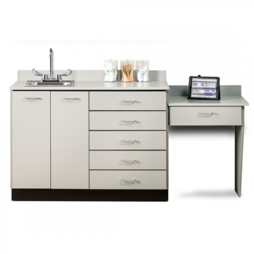 "Clinton 48"" Cabinet Gray with Desk"
