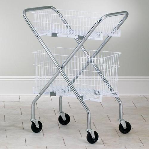 Folding Wire Basket Cart